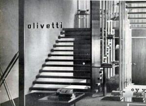Interni dello showromm Olivetti disegnati da Annikki & Ilmari Tapiovaara