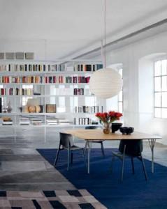 Vivere la sala da pranzo oggi arredativo design magazine for Sala pranzo libreria