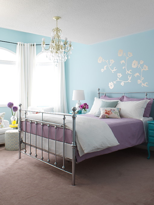 Camera da letto: arredare con colori freddi - Arredativo ...