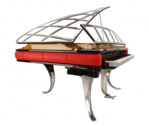 Poul Henningsen Grand Piano: concept di pianoforte disegnato nel 1931.