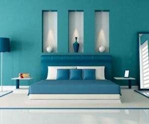 Camera da letto arredare con colori freddi arredativo for Mobili tiffany