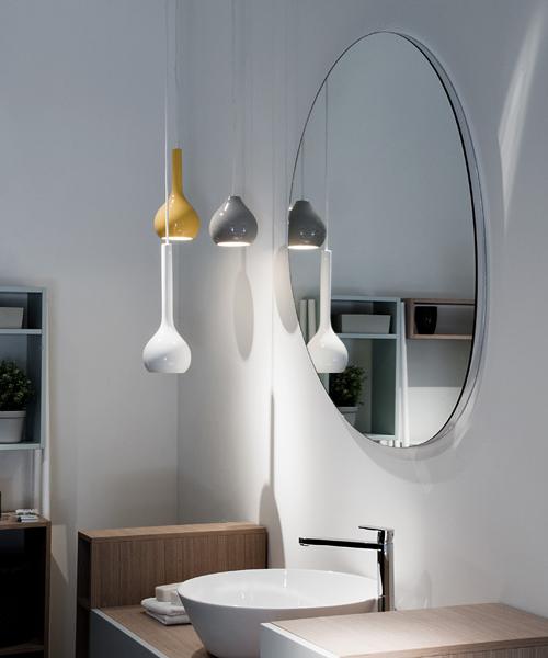 Illuminare la stanza da bagno arredativo design magazine for Lampade bagno design