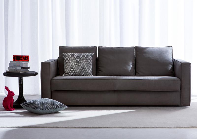 Berto salotti la nuova collezione arredativo design magazine - Divano letto in pelle ...