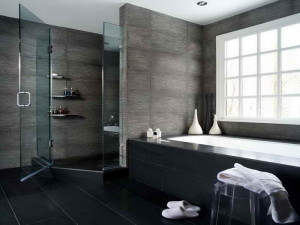 Modern-Bathroom-Black-Floor-Decoration-Pictures