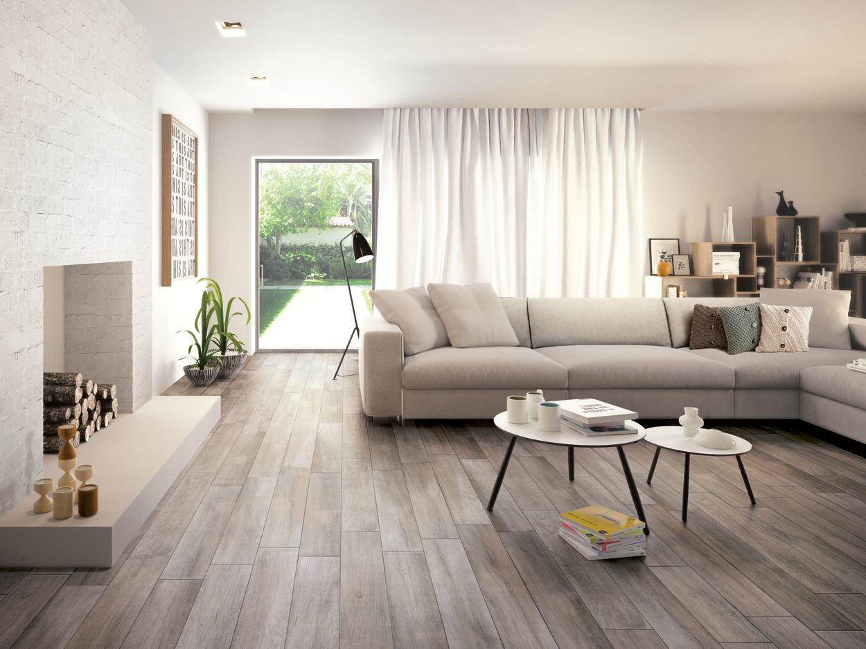 Finiture d 39 interni la piastrella effetto legno for Piastrelle soggiorno