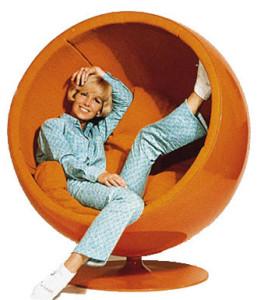 ball chair orange
