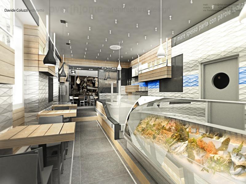 Sor duilio ristorante pescheria arredativo design magazine for Fish market design ideas