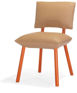 Pillow chair orange front_web