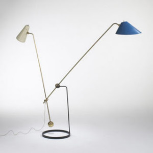 lighting - Pierre Guariche Equilibrium double branch floor lamp for Diserdot c1950s