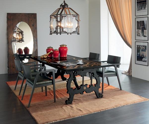Moderno e antico in un intesa perfetta arredativo - Sedie da abbinare a tavolo fratino ...