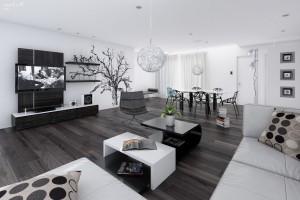 retro-black-and-white-living-dining-room