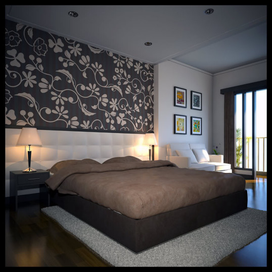 le pareti in camera da letto arredativo design magazine. Black Bedroom Furniture Sets. Home Design Ideas