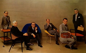 Playboy Magazine July 1961:  in foto George Nelson, Edward Wormley, Eero Saarinen, Harry Bertoia, Charles Eames, Jens Risom. (fonte: http://fieldnotes.janewaggoner.com/ )