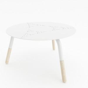 Tavolino Fractal Bianco 1
