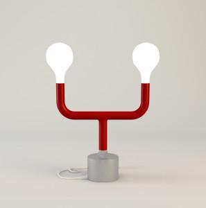 CALLIGARIS CODE_lampada da tavolo POM POM_red