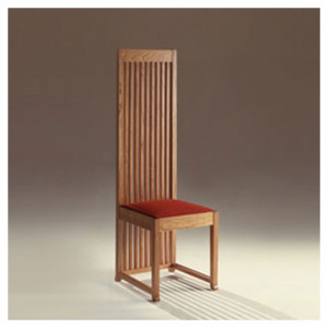 Robie chair arredativo design magazine for Frank lloyd wright stile prateria