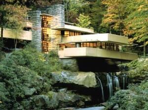 Casa sulla cascata (fonte: http://www.architetturaorganica.org/)