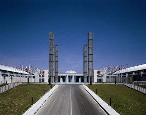L'ingresso principale di Rimini Fiera