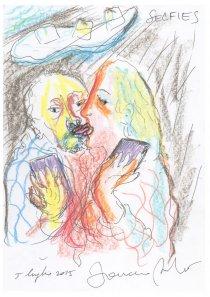 Manifesto della mostra Mondo Selfie alla Galleria Biffi Arte (fonte: http://www.biffiarte.it/ )