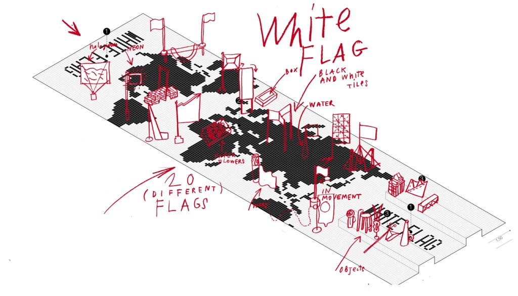 white-flag-drawing
