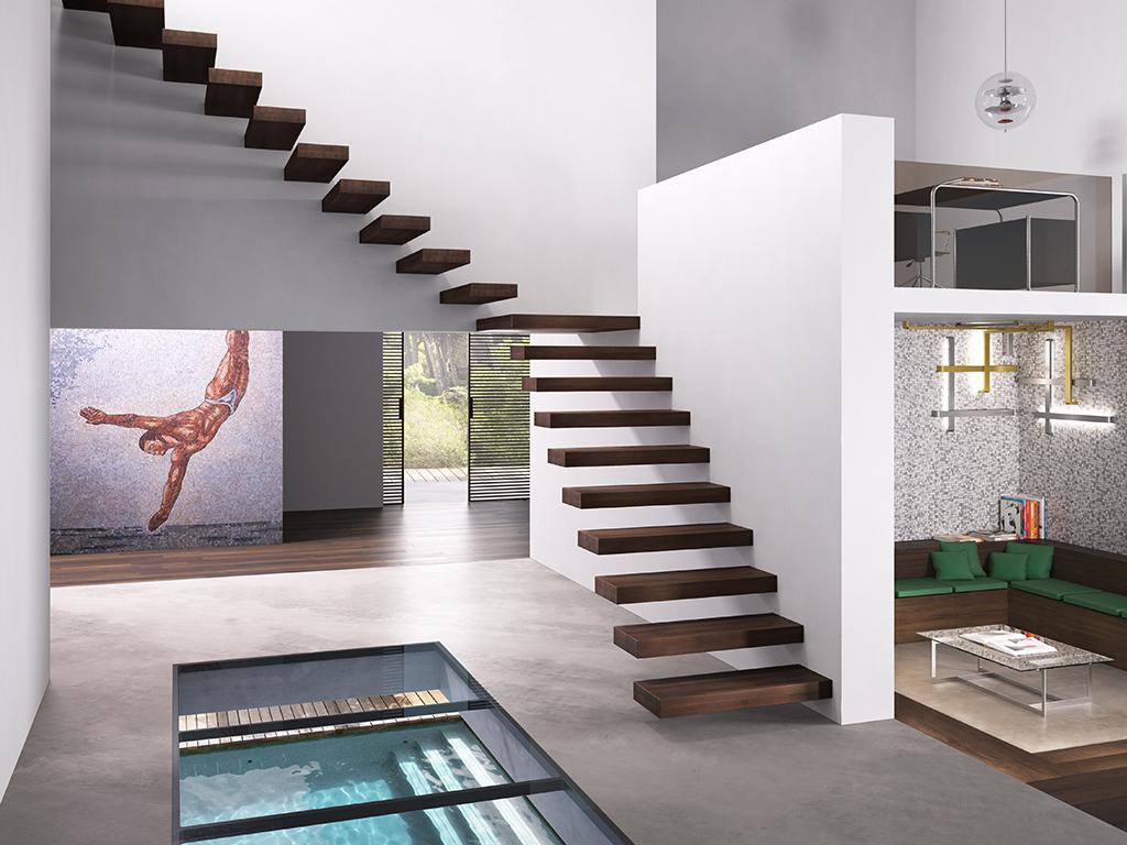 Arredamento tra i trend del 2019 tornano le scale a - Scale interno casa ...