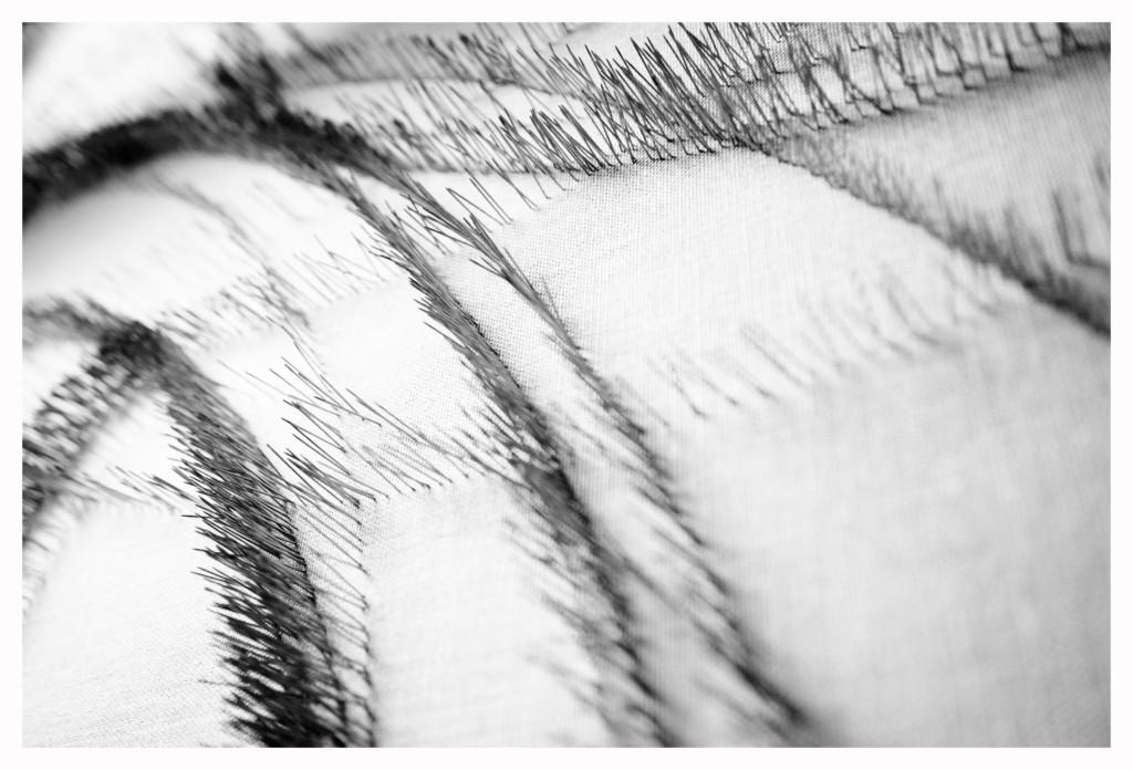 Roberto  Pietrosanti  Non  Avere  Timore  1,  dettaglio2016  spilli  in  ottone  nichelato  su  tela  cm  125x150  proprietà  dell'artista.Fotografia  di  Leonardo  Aquilino