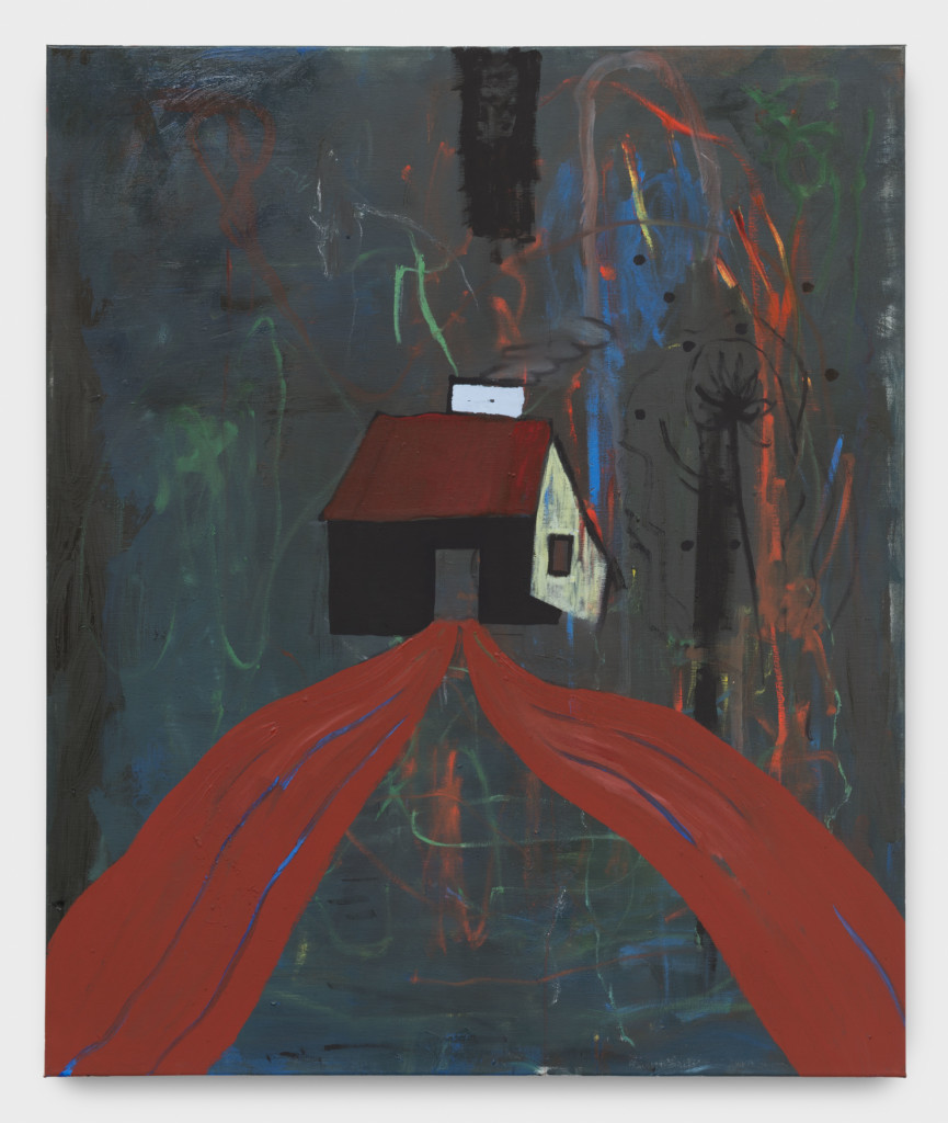 Walter Swennen The Black House, 2017 Oil on canvas 47 1/4 x 39 1/2 x 3/4 inches (120 x 99.8 x 1.8 cm) Copyright Walter Swennen Courtesy the artist and Gladstone Gallery, New York and Brussels.