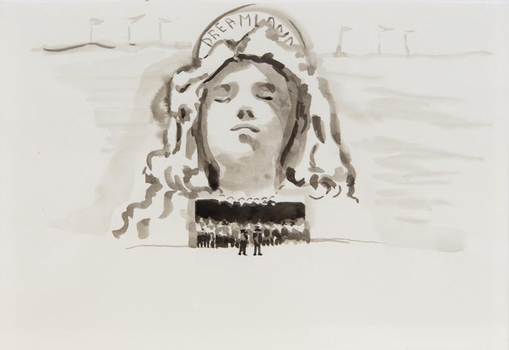Adelita Husni-Bey, Dreamland 2013 Tecnica mista su carta, 25 x 34 cm Collezione privata Torino Courtesy l'artista e Laveronica arte contemporanea, Modica