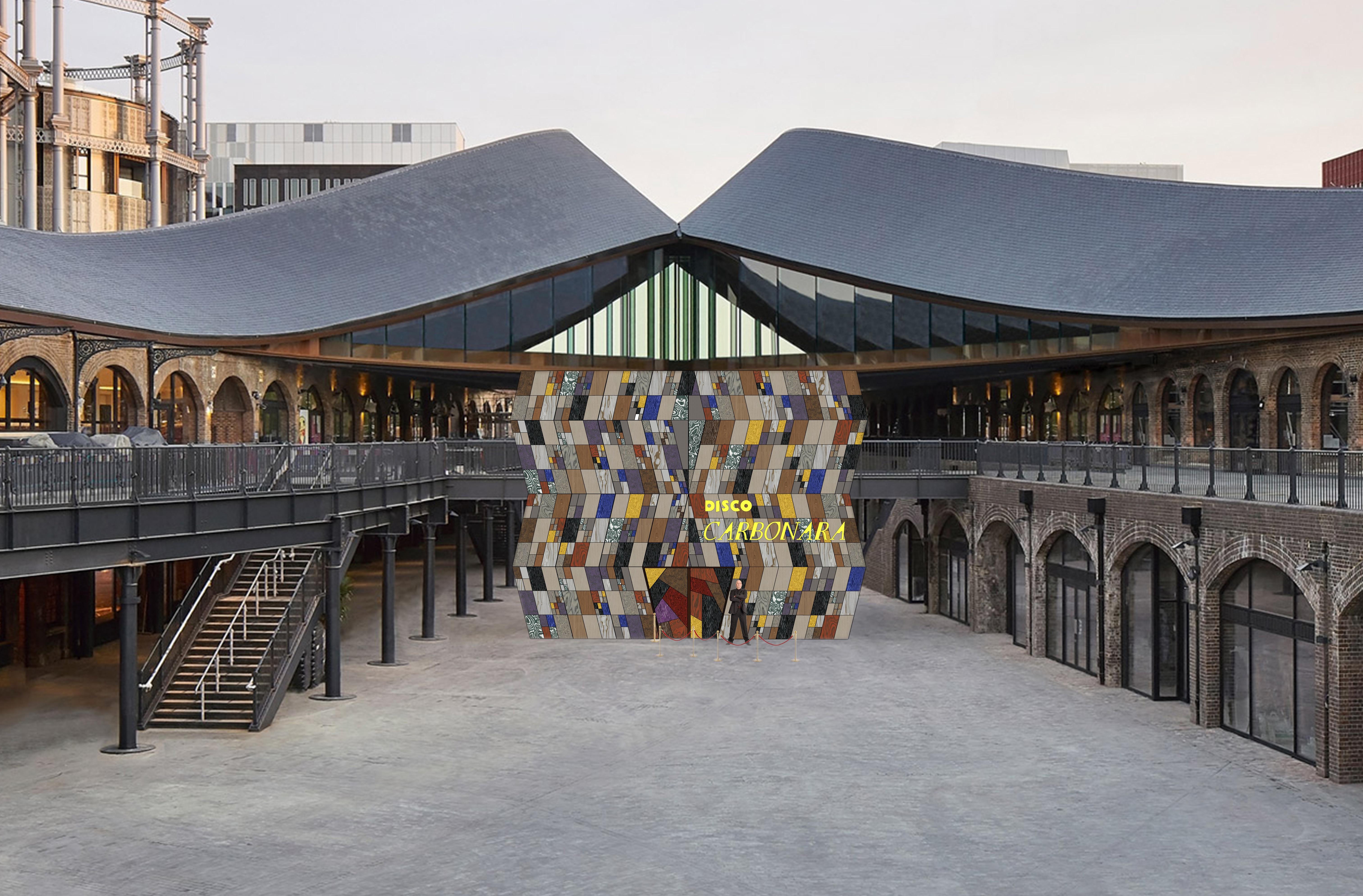 """ALPI al London Design Festival con l'installazione """"Disco Carbonara"""" di Martino Gamper"""