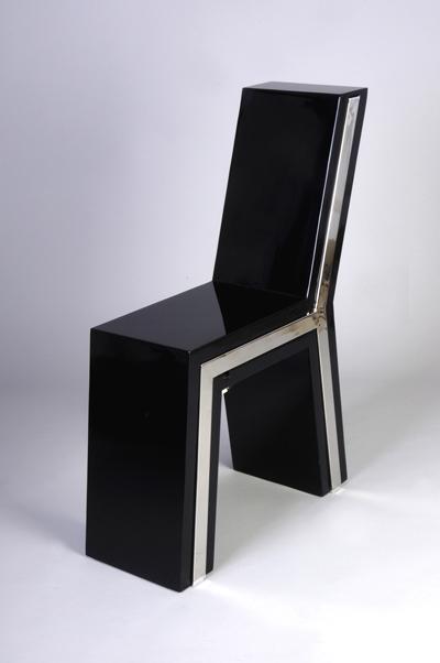 La sedia di Flavio Scalzo quando è chiusa ha un minimo ingombro.